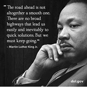 Martin Luther King, Jr., with quote